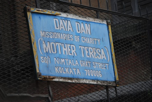 Daya Dan Entrance, one of Mother Teresa's Orphanages for kids with mental or physical disabilities (most have both)